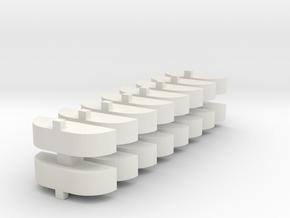 009 loco coupling pack in White Natural Versatile Plastic