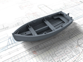1/96 Scale Allied 10ft Dinghy with Rudder in Smoothest Fine Detail Plastic