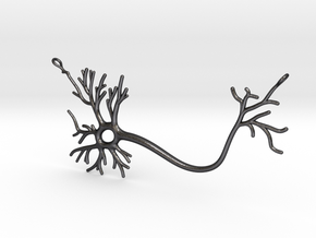 Neuron Necklace  in Polished and Bronzed Black Steel