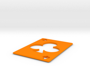 Throwing Card  Clubs in Orange Strong & Flexible Polished