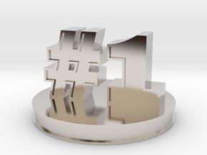 number 1 ( #1 ) miniature in Platinum