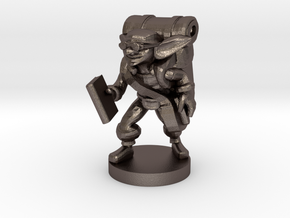 Goblin Book Merchant in Polished Bronzed Silver Steel