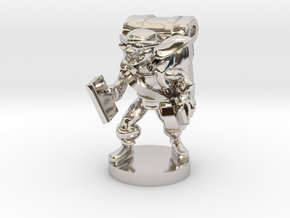 Goblin Book Merchant in Rhodium Plated Brass