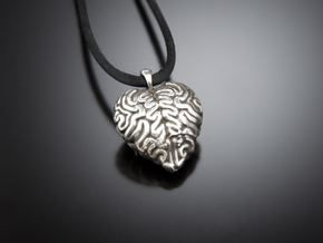 Think With Your Heart Pendant (Hollowed) in Premium Silver