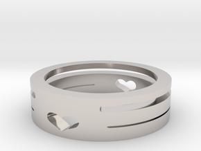 heart ring in Platinum: 6 / 51.5