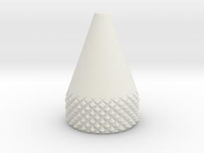 Cone 10 MM O.D. in White Natural Versatile Plastic
