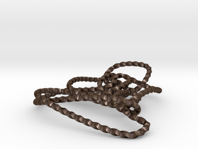 Thistlethwaite unknot (Twisted square) in Polished Bronze Steel: Extra Small