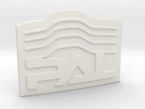Custom Logo Buckle in White Natural Versatile Plastic