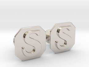 Monogram Cufflinks S in Platinum