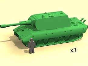 6mm E-100 tank x3 in Smoothest Fine Detail Plastic