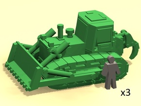 6mm Bulldozer X3 in Smoothest Fine Detail Plastic