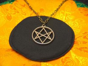Unicursal Hexagram Pendant in Stainless Steel