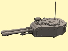28mm tank turret automatic cannons (for old kit) in White Processed Versatile Plastic