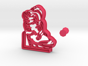 Cookie Cutter of Belle, Beauty and the Beast+handl in Pink Processed Versatile Plastic