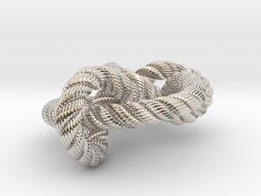 Miller institute knot (Rope with detail) in Platinum: Medium