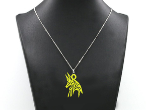 Anubis - Amulet - Abstract in White Natural Versatile Plastic