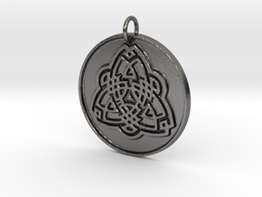 Tribal Triquetra in Polished Nickel Steel: Small