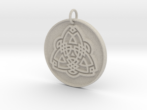 Tribal Triquetra in Natural Sandstone: Small
