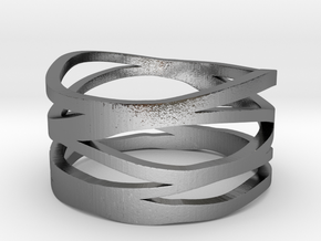 Strands Ring in Polished Silver