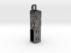 Monument Valley 2 Doortem Keychain  in Polished Nickel Steel