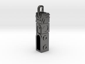 Monument Valley 2 Doortem Keychain  in Polished Nickel Steel