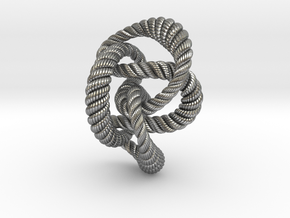 Knot 8₂₀ (Rope with detail)  in Natural Silver: Extra Small