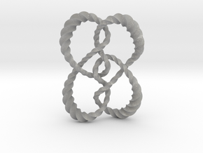 Symmetrical knot (Twisted square) in Aluminum: Extra Small