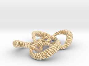 Symmetrical knot (Rope with detail) in 14K Yellow Gold: Medium