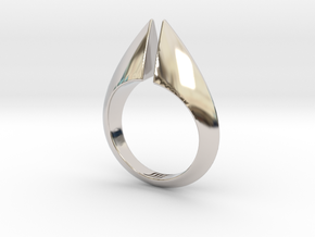 Torc Ring II in Rhodium Plated Brass: 6 / 51.5