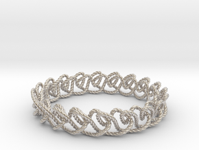 Chain stitch knot bracelet (Rope) in Platinum: Extra Small