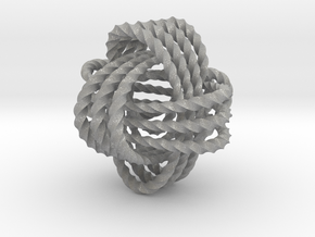 Monkey's fist knot (Twisted square) in Aluminum: Extra Small