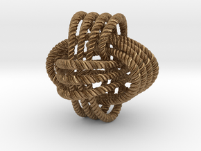 Monkey's fist knot (Rope with detail) in Natural Brass: Large