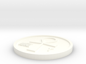 Resurrection Coin in White Processed Versatile Plastic