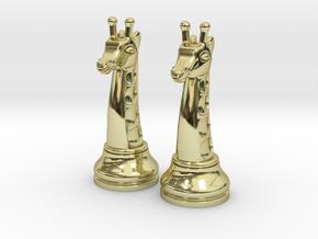 Pair Chess Giraffe Big / Timur Giraffe Zarafah in 18k Gold