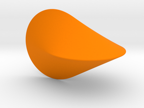 The Oloid: a mathematically perfect piece of art in Orange Processed Versatile Plastic: Medium