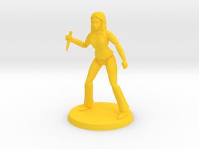 Lara the Slayer 3 in Yellow Processed Versatile Plastic