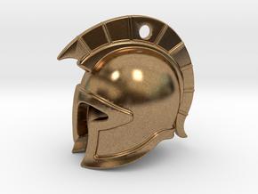 spartan helmet in Natural Brass
