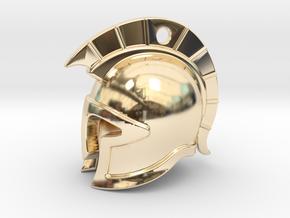 spartan helmet in 14k Gold Plated Brass