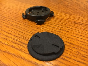 Garmin Quarter Turn Mount Plate in Black Natural Versatile Plastic