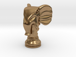 11Elephant Small Single in Natural Brass