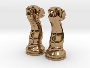 Pair Chess Camel Big / Timur Jamal  in Polished Brass