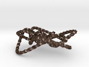 Ochiai unknot (Twisted square) in Polished Bronze Steel: Extra Small
