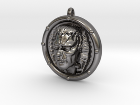 Frankenstein's Monster 3D Pendant in Polished Nickel Steel