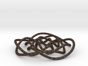Rose knot 4/5 (Rope with detail) in Polished Bronze Steel: Large