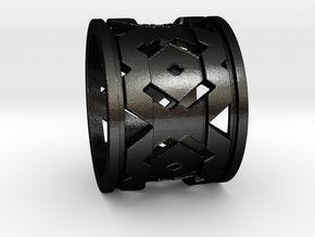Urban Ring in Matte Black Steel: Extra Small