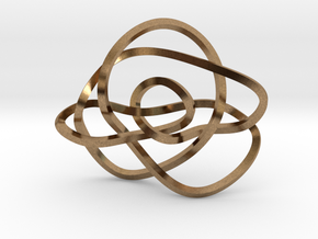 Ochiai unknot (Square) in Natural Brass: Extra Small