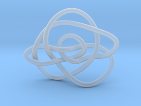 Ochiai unknot (Circle) in Smooth Fine Detail Plastic: Extra Small