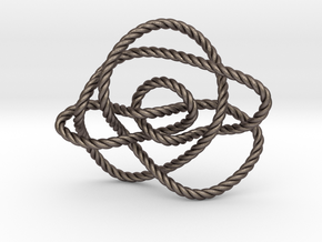 Ochiai unknot (Rope) in Polished Bronzed Silver Steel: Extra Small