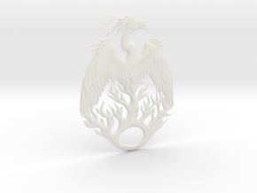 The Mythical Phoenix in White Natural Versatile Plastic