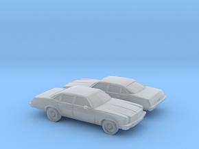 1/160 2X 1976/77 Chevrolet Chevelle Sedan in Smooth Fine Detail Plastic